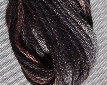 Valdani, 6 Strand Cotton Floss, P11, Aged Black, Embroidery Floss, Punch Needle, Embroidery, Penny Rugs, Sewing Accessory