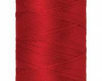 Mettler Thread, Country Red, #0504, 60wt, Solid Cotton, Silk Finish Cotton, Embroidery Thread, Sewing Thread, Quilting Thread, Sewing Thread