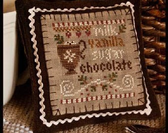 Counted Cross Stitch Pattern, Hot Cocoa, Christmas Ornament, Hot Cocoa Ornament, Chocolate, Ornament, Little House Needleworks, PATTERN ONLY