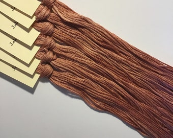 Classic Colorworks, Jakey Brown, CCT-036, 5 YARD Skein, Hand Dyed Cotton, Embroidery Floss, Counted Cross Stitch, Embroidery Thread