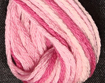 Valdani, 6 Strand Cotton Floss, M1, Strawberry Cream, Embroidery Floss , Punch Needle, Embroidery, Penny Rugs, Sewing Accessory