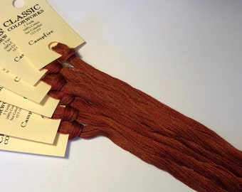 Classic Colorworks, Campfire, CCT-253, 5 YARD Skein, Hand Dyed Cotton, Embroidery Floss, Cross Stitch, Hand Embroidery Thread