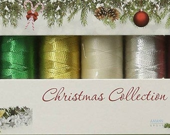 Mettler Thread, Christmas Collection, Silk Finish Cotton, Thread Set, Embroidery Thread, Sewing Thread, Quilting Thread, Hand Sewing Thread
