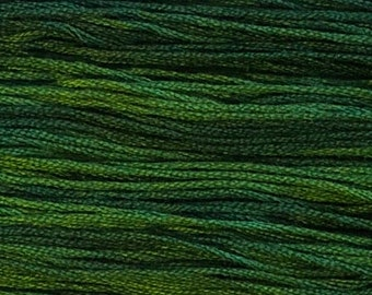 Classic Colorworks, Grasshopper, CCT-191, 5 YARD Skein, Hand Dyed Cotton, Embroidery Floss, Counted Cross Stitch, Embroidery Thread