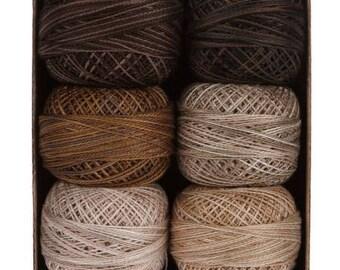Valdani Thread, Size 12, Essential Neutrals, Perle Cotton, Kim Diehl, Wool Applique, Cross Stitch, Embroidery, Needlepoint, Punch Needle