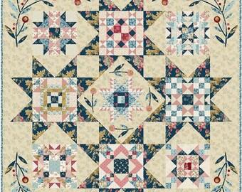 Quilt Pattern, Super Bloom, Floral Quilt, Star Quilt, Applique Flowers, Bed Quilt, Laundry Basket Quilts, Edyta Sitar, PATTERN ONLY