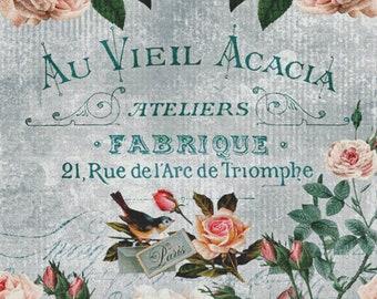 Counted Cross Stitch Pattern, French Blue Floral, Cross Stitch, French Country Decor, Deanna Cartea, Cross Stitch Studio, PATTERN ONLY