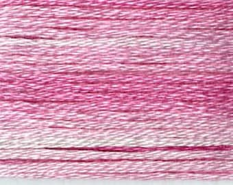 Cosmo, 6 Strand Cotton Floss, SE80-8009, Seasons Variegated Embroidery Thread, Pinks, Wool Applique, Cross Stitch, Embroidery