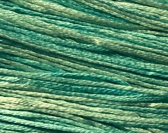 Weeks Dye Works, Robin's Egg, WDW-2129, 5 YARD Skein, Hand Dyed Cotton, Embroidery Floss, Cross Stitch, Hand Embroidery, Punch Needle