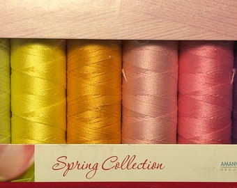 Mettler Thread, Spring Collection, Silk Finish Cotton, Thread Set, Embroidery Thread, Sewing Thread, Quilting Thread, Hand Sewing Thread
