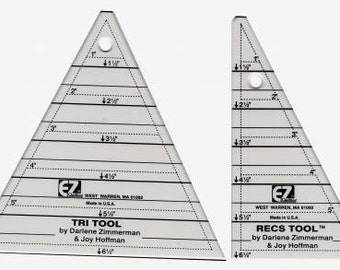 Quilt Ruler, EZ Quilting, Tri Recs Triangle Rulers, Acrylic Ruler, Quilt Accessory, Sewing Ruler, Simplicity, Darlene Zimmerman, Joy Hoffman