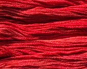 Gentle Art, Sampler Threads, Holly Berry, #0311, 10 YARD Skein, Embroidery Floss, Counted Cross Stitch, Hand Embroidery Thread