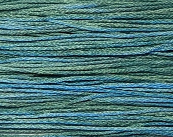 Weeks Dye Works, Capri, WDW-2120, 5 YARD Skein, Hand Dyed Cotton, Embroidery Floss, Counted Cross Stitch, Hand Embroidery, PunchNeedle