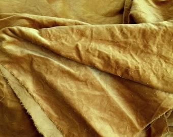 Velveteen, Squash, Yellow Velveteen, Hand Dyed Velveteen, Cotton Velveteen, Finishing Fabric, Velveteen Fabric, Lady Dot Creates