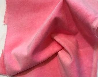 Velveteen, Dahlia, Pink Velveteen, Hand Dyed Velveteen, Cotton Velveteen, Finishing Fabric, Velveteen Fabric, Lady Dot Creates