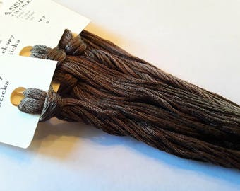 Classic Colorworks, Hickory Sticks, CCT-166, 5 YARD Skein, Hand Dyed Cotton, Embroidery Floss, Counted Cross Stitch, Hand Embroidery Thread