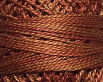 Valdani Thread, Size 12, O506, Perle Cotton, Cinnamon Swirl, Punch Needle, Embroidery, Penny Rugs, Primitive Stitching, Sewing Accessory