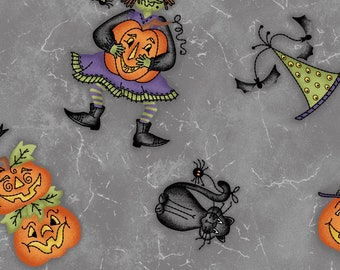 Quilters Cotton, Halloweenie, Maywood Studio, Cotton Fabric, 100% Cotton, Fat Quarters, Halloween Fabric, Quilting, Sewing, Robin Kingsley