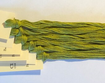 Classic Colorworks, Bean Sprout, CCT-184, 5 YARD Skein, Hand Dyed Cotton, Embroidery Floss, Counted Cross Stitch, Embroidery Thread