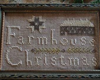 Cross Stitch Pattern, Farmhouse Christmas, Cross Stitch Sampler, Christmas Sampler, Farmhouse Decor, Country, Pineberry Lane PATTERN ONLY