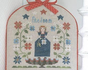 Counted Cross Stitch Pattern, Freedom, Patriotic Decor, Americana, Independence, Fourth of July, Collection Tralala, TraLaLa PATTERN ONLY