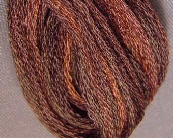 Valdani, 6 Strand Cotton Floss, P12, Brown, Embroidery Floss, Variegated Floss, Hand Dyed Floss, Wool Applique, Punch Needle