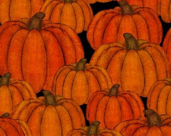 Quilt Fabric, Harvest Campers, Orange Pumpkins, Fall Decor, Autumn Decor, Country Pumpkins, Pumpkin Allover, 3 Wishes, Beth Albert