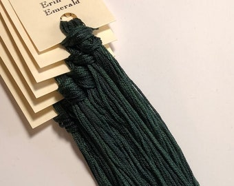 Classic Colorworks, Erin Go Emerald, CCT-165, 5 YARD Skein, Hand Dyed Cotton, Embroidery Floss, Counted Cross Stitch, Embroidery Thread