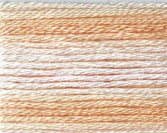 Cosmo, 6 Strand Cotton Floss, SE80-8045,  Seasons Variegated Embroidery Thread, Peaches, Embroidery, Pinks, Punch Needle, Sewing Accessory