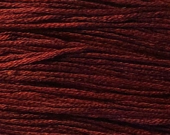 Weeks Dye Works, Merlot, WDW-1334, 5 YARD Skein, Hand Dyed Cotton, Embroidery Floss, Counted Cross Stitch, Embroidery, Punch Needle