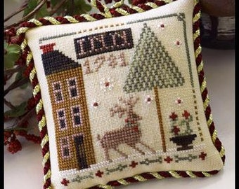 Counted Cross Stitch Pattern, Deer Valley Inn, Christmas Ornament, Sampler Tree, Ornament, Christmas, Little House Needleworks, PATTERN ONLY