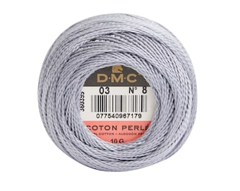 DMC Perle Cotton, Size 8, DMC 03, Mouse, Pearl Cotton Ball, Embroidery Thread, Punch Needle, Embroidery, Penny Rugs, Sewing Accessory