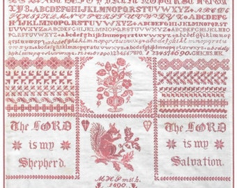 Counted Cross Stitch Pattern, M H Smith 1890, Bristol Sampler, George Muller Trust, Orphan House, Dutch Treat Designs, PATTERN ONLY