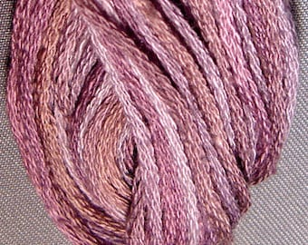 Valdani, 6 Strand Cotton Floss, P10, Antique Violet, Embroidery Floss, Variegated Floss, Hand Dyed Floss, Wool Applique, Punch Needle