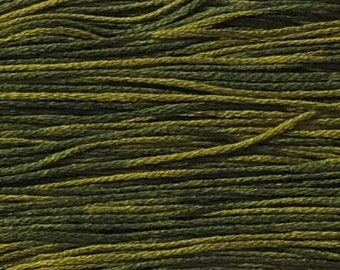 Weeks Dye Works, Bullfrog, WDW-2202, 5 YARD Skein, Hand Dyed Cotton, Embroidery Floss, Counted Cross Stitch, Embroidery, PunchNeedle
