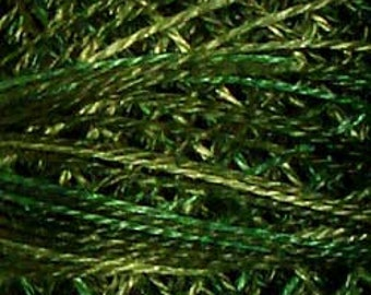 Valdani Thread, Size 8, O526, Green Pastures, Perle Cotton, Punch Needle, Embroidery, Penny Rugs, Primitive Stitching, Sewing Accessory