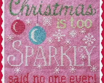 Counted Cross Stitch Pattern, A Sparkly Christmas, Christmas Decor, Snowflakes, Christmas Ornaments, Waxing Moon Designs, PATTERN ONLY