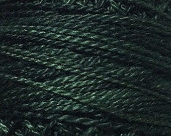 Valdani Thread, Size 12, O41, Perle Cotton, Deep Forest Greens, Punch Needle, Embroidery, Penny Rugs, Primitive Stitching, Sewing Accessory