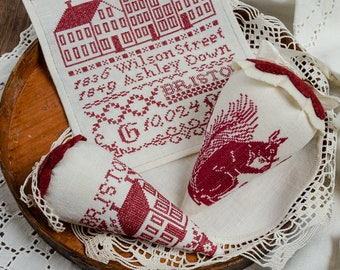 Counted Cross Stitch Pattern, Bristol Berries, Bristol Orphanage, Pin Berries, Shabby Cottage, Erica Michaels, PATTERN ONLY