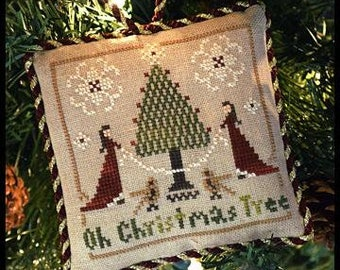 Counted Cross Stitch Pattern, Oh Christmas Tree, Christmas Ornament, Sampler Tree, Christmas Decor, Little House Needleworks, PATTERN ONLY