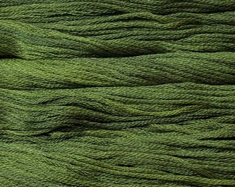 Gentle Art, Sampler Threads, Green with Envy, #0196, 10 YARD Skein, Embroidery Floss, Counted Cross Stitch, Hand Embroidery Thread