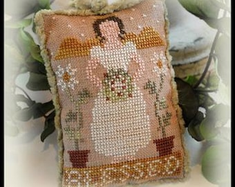 Counted Cross Stitch Pattern, Blessed, Christmas Ornament, Sampler Ornament, Ornament, Christmas, Little House Needleworks, PATTERN ONLY