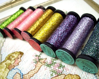 Kreinik, Metallic Braid, #4 Very Fine, Embroidery Thread, Embroidery, Cross Stitch Thread, Needlepoint, Machine Embroidery, Embellishment