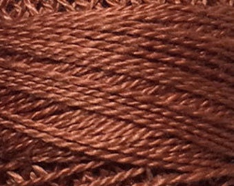Valdani Thread, Size 12, 159, Rust, Valdani Perle Cotton, Punch Needle, Embroidery, Penny Rugs, Primitive Stitching, Sewing Accessory