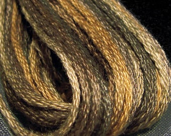 Valdani, 6 Strand Cotton Floss, P9, Bronze, Embroidery Floss, Variegated Floss, Hand Dyed Floss, Wool Applique, Punch Needle