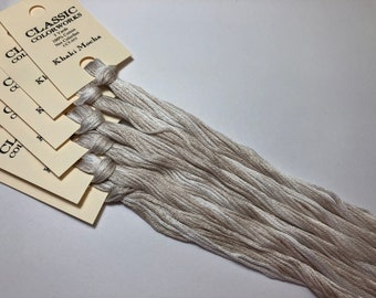 Classic Colorworks, Khaki Mocha, CCT-055, 5 YARD Skein, Hand Dyed Cotton, Embroidery Floss, Counted Cross Stitch,Hand Embroidery Thread