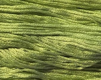 Gentle Art, Sampler Threads, Evergreen, #0150, 10 YARD Skein, Embroidery Floss, Counted Cross Stitch, Hand Embroidery Thread