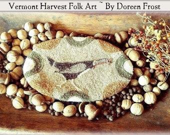 Punch Needle Pattern, Olde Heritage Turkey, Primitive Turkey, Punch Needle, Fall Decor, Vermont Harvest Folk Art, Doreen Frost, PATTERN ONLY