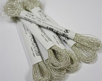 Cosmo, Sparkle Floss, 76-1,  Single Strand Metallic Floss, Silver White, Embroidery Floss, Applique, Cross Stitch, Embroidery, Needlepoint
