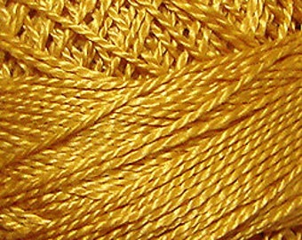 Valdani Thread, Size 12, 1315, Mustard Seed, Perle Cotton, Punch Needle, Embroidery, Penny Rugs, Primitive Stitching, Sewing Accessory